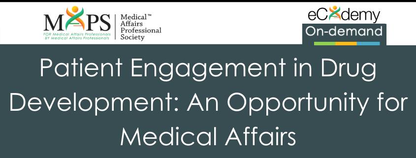 Patient Engagement Drug Development