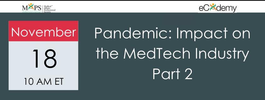 Pandemic MedTech Webinar 2