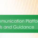 Scientific Communications Platforms Standards Guidance