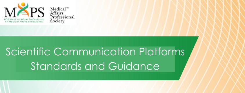 Scientific Communications Platforms Standards Guidance