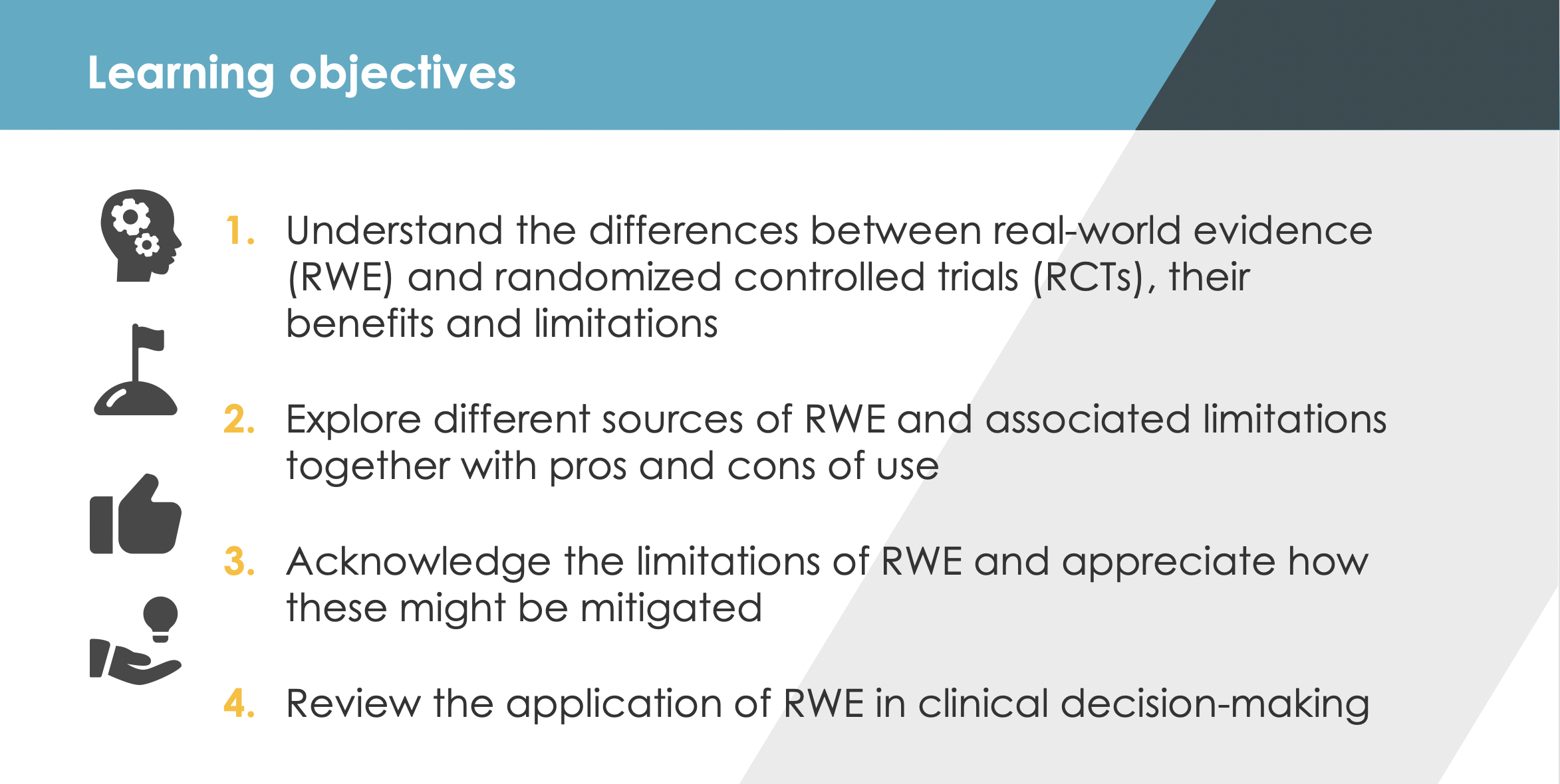 RWE Learning Objectives