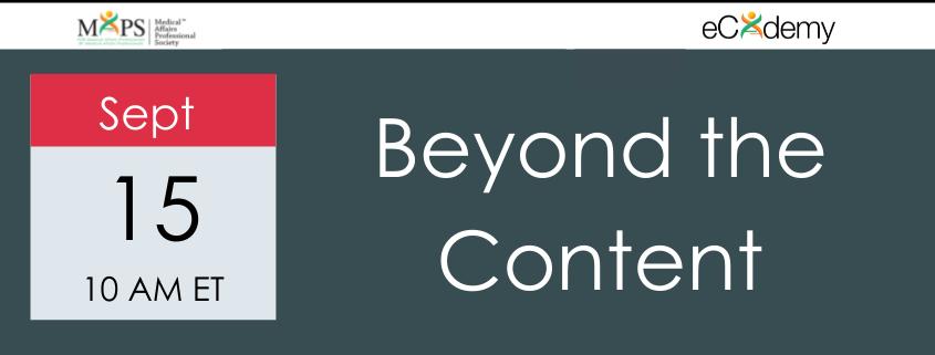 Beyond Content Webinar